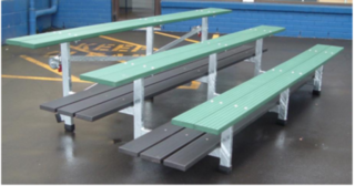 Bleacher- Tip Away Seating Outdoor