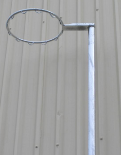 Outdoor - Fixed Height 40NB Galvanized Netball Post- No Net Hooks