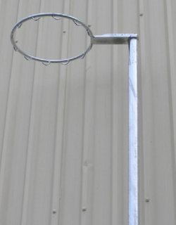 Outdoor - Fixed Height 50NB Galvanized Netball Post- WIth Net Hooks
