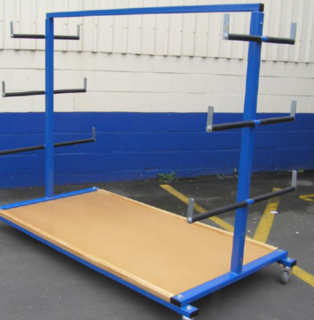 Storage Trolley - With Timber Deck