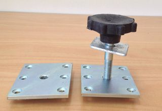 Floor Plate - 100x75mm - M12 Thread