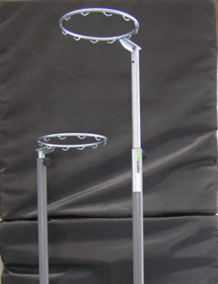 Indoor - Telescopic Netball Post- Wheel Away Base