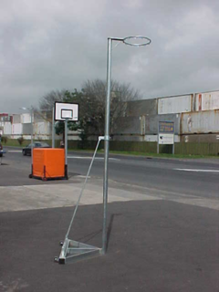 Freestanding -Telescopic Netball Post