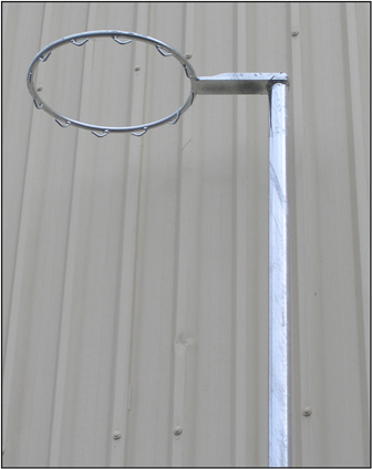 Outdoor - Fixed Height 40NB Galvanized Netball Post- With Net Hooks