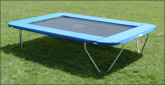 Euro Competitor Trampoline With Economy Safety Pads
