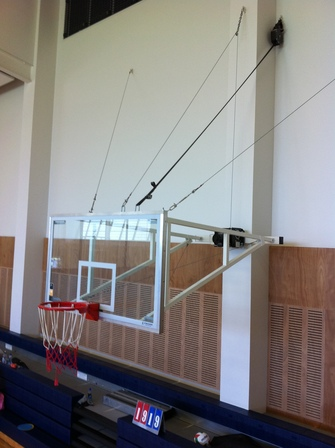 Basketball System Indoor Wall Mounted Up Fold Unit