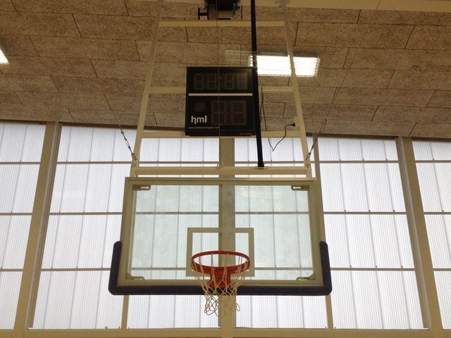 Basketball System Indoor Ceiling Hung Retractable